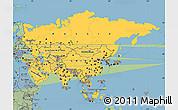 Savanna Style Simple Map of Asia