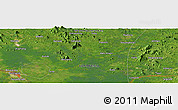 Satellite Panoramic Map of Pontianak