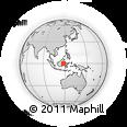 Outline Map of Bontang, rectangular outline