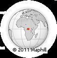Outline Map of Yundji, rectangular outline