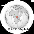 Outline Map of Balobe, rectangular outline