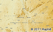 """Physical Map of the area around 0°10'31""""N,28°7'30""""E"""