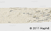 Shaded Relief Panoramic Map of Busega