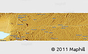 """Physical Panoramic Map of the area around 0°10'31""""N,30°40'29""""E"""