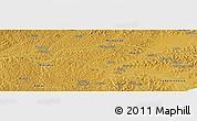 Physical Panoramic Map of Lwannunda