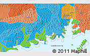 """Political 3D Map of the area around 0°10'31""""N,32°22'30""""E"""