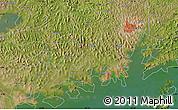 "Satellite Map of the area around 0°10'31""N,32°22'30""E"