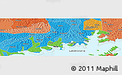"""Political Panoramic Map of the area around 0°10'31""""N,32°22'30""""E"""