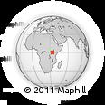 Outline Map of Sidindi, rectangular outline
