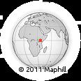 Outline Map of Nyahururu, rectangular outline