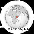 Outline Map of Kenya, rectangular outline