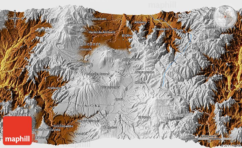 Physical 3D Map of San Jos De Minas