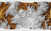 """Physical 3D Map of the area around 0°10'31""""N,78°7'30""""W"""