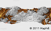 """Physical Panoramic Map of the area around 0°10'31""""N,78°7'30""""W"""
