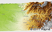 """Physical 3D Map of the area around 0°10'31""""N,78°58'29""""W"""