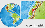 """Physical Location Map of the area around 0°10'31""""N,78°58'29""""W"""
