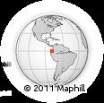 Outline Map of Nanegal, rectangular outline