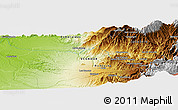 """Physical Panoramic Map of the area around 0°10'31""""N,78°58'29""""W"""