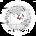 Outline Map of Telo Island, rectangular outline