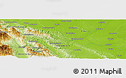 Physical Panoramic Map of Pagaranpandang