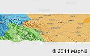 Political Panoramic Map of Pagaranpandang