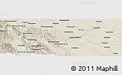 Shaded Relief Panoramic Map of Pagaranpandang