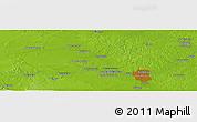 Physical Panoramic Map of Pekanbaru