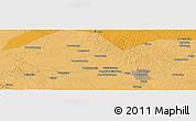 Political Panoramic Map of Pekanbaru