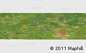 Satellite Panoramic Map of Pekanbaru