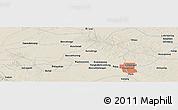 Shaded Relief Panoramic Map of Pekanbaru