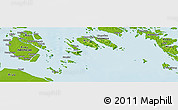 """Physical Panoramic Map of the area around 0°42'2""""N,103°46'30""""E"""