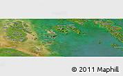 "Satellite Panoramic Map of the area around 0°42'2""N,103°46'30""E"
