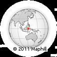 Outline Map of Tangga Barito, rectangular outline