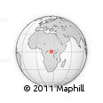 Outline Map of Kisangani, rectangular outline