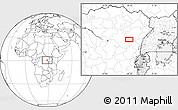 """Blank Location Map of the area around 0°42'2""""N,28°7'30""""E"""