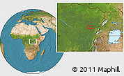 """Satellite Location Map of the area around 0°42'2""""N,28°7'30""""E"""