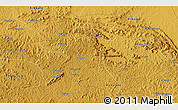 """Physical 3D Map of the area around 0°42'2""""N,31°31'29""""E"""