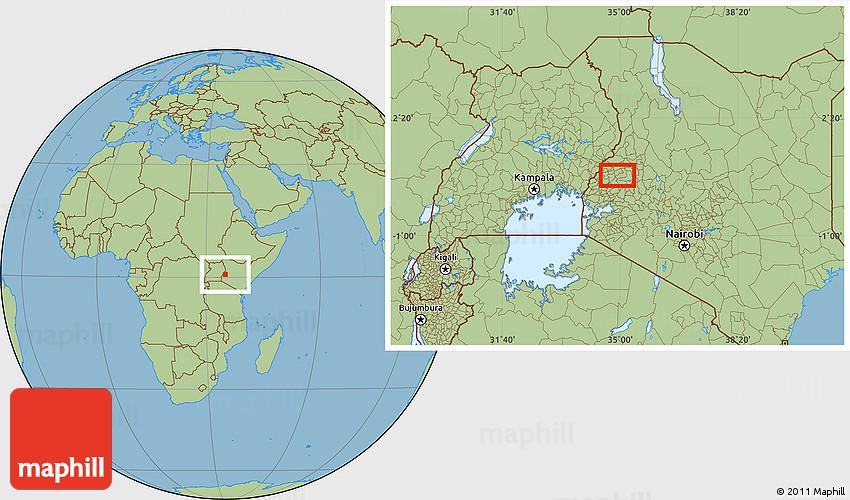 Savanna Style Location Map of Eldoret