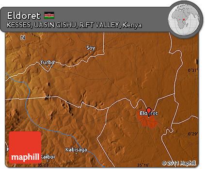 Free Physical Map of Eldoret