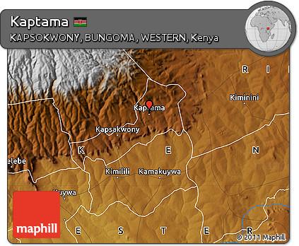 Free Physical Map of Kaptama