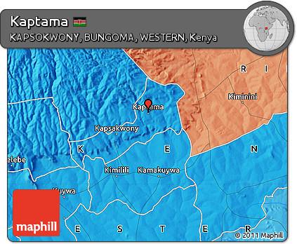 Free Political Map of Kaptama
