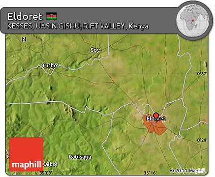 Free Satellite Map of Eldoret