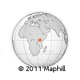 Outline Map of AIC Kabarnet, rectangular outline
