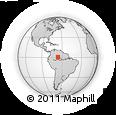 Outline Map of Pico Da Neblina, rectangular outline