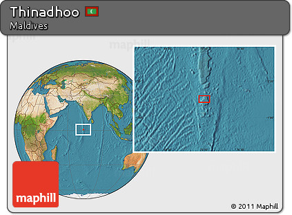 Free Satellite Location Map Of Thinadhoo
