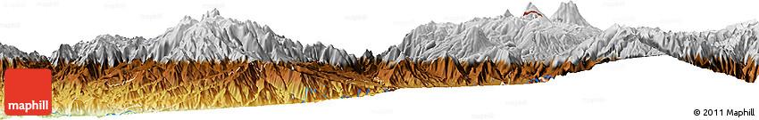 Physical Horizon Map of Tulcán