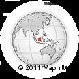 Outline Map of West Kalimantan, rectangular outline