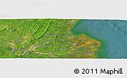 Satellite Panoramic Map of Samarinda
