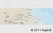 Shaded Relief Panoramic Map of Samarinda