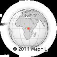 Outline Map of Bagalia, rectangular outline